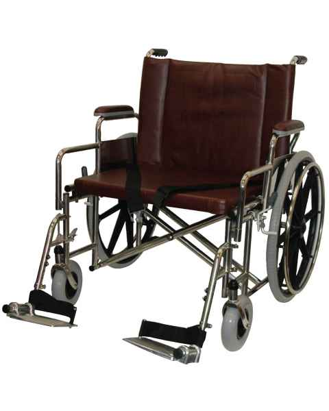 "26"" Wide Non-Magnetic Bariatric Wheelchair with Detachable Footrest"