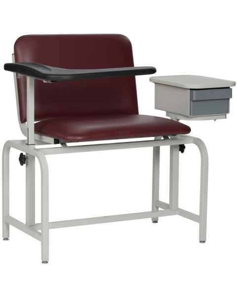 Extra Large Blood Drawing Chair Padded Vinyl Seat with Drawer