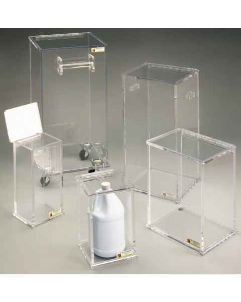 IBI Beta-Gard Acrylic Waste Containers with Fitted Lids