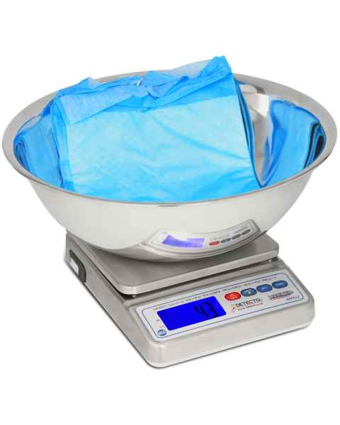 Detecto WPS12UT IP67-Rated Washdown Digital Scale with Utility Bowl