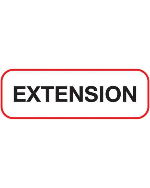 EXTENSION Label
