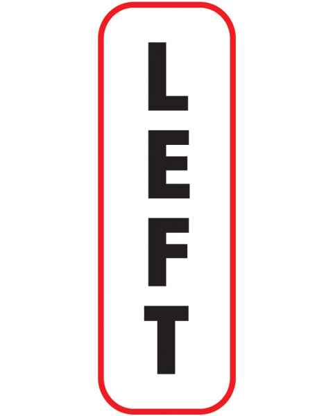 LEFT Label (Vertical)