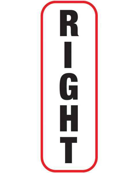 RIGHT Label (Vertical)