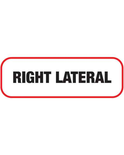 RIGHT LATERAL Label