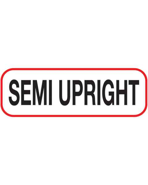 SEMI UPRIGHT Label