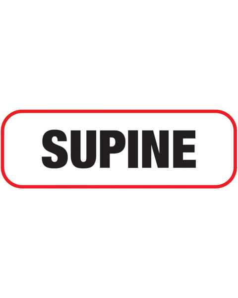 SUPINE Label