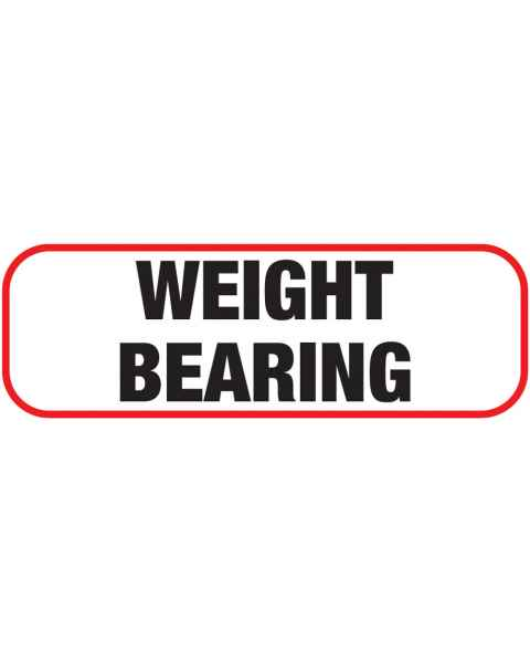 WEIGHT BEARING Label