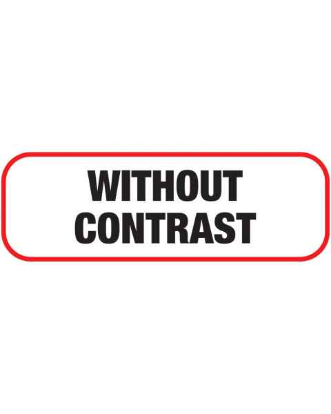 WITHOUT CONTRAST Label
