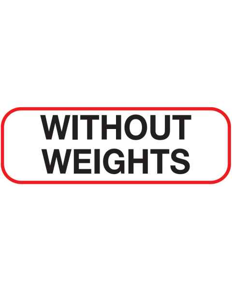 WITHOUT WEIGHTS Label