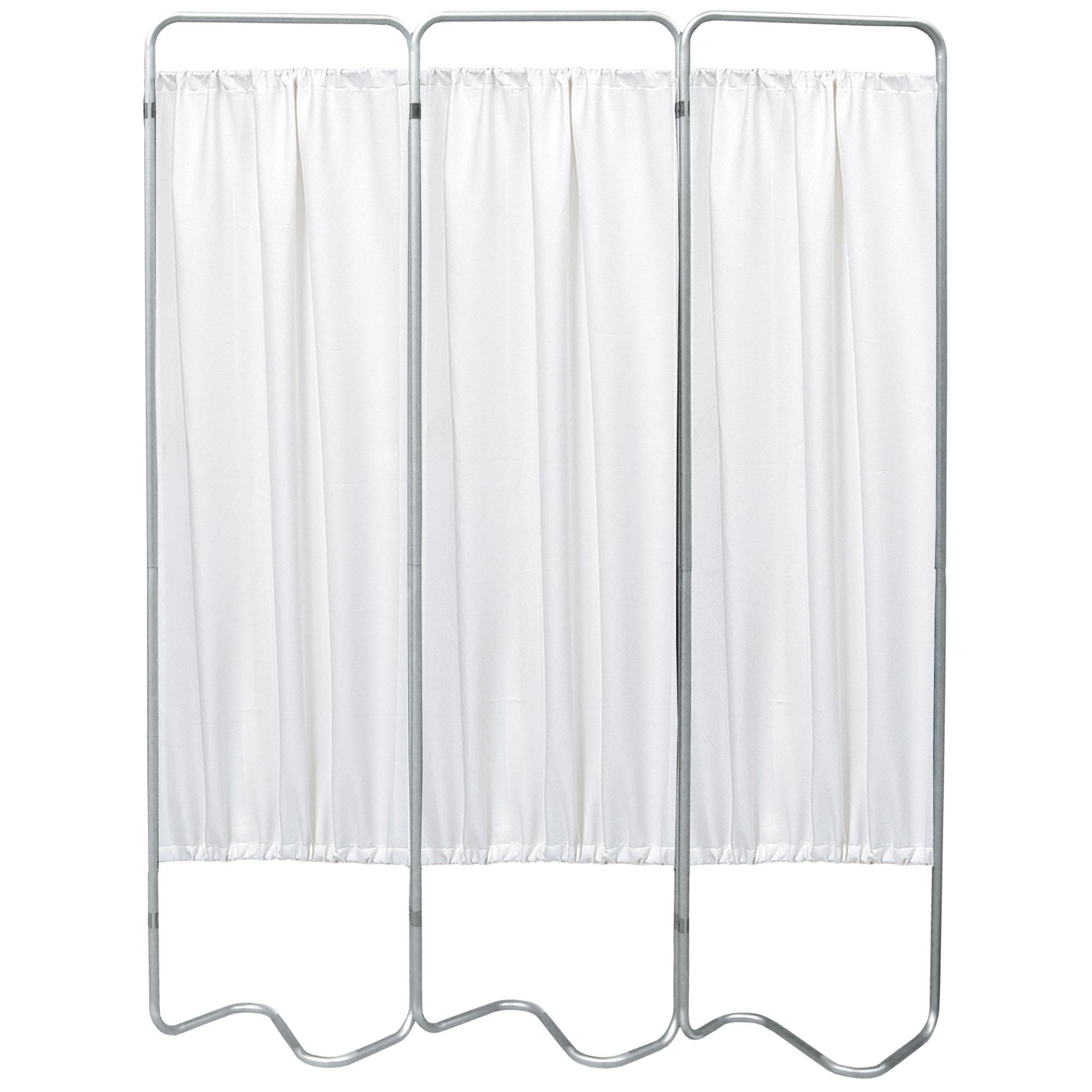Beamatic 3 Section Folding Privacy Screen - White Vinyl Screen Panel
