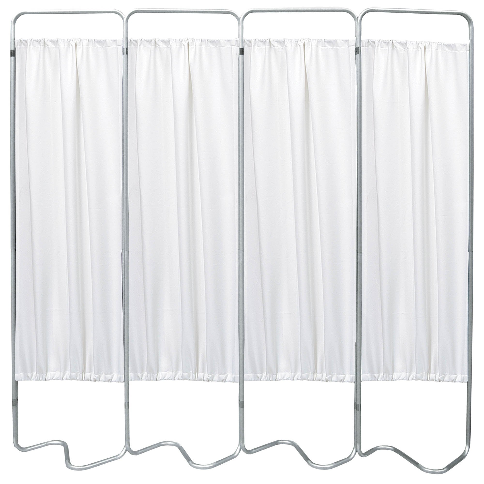 Beamatic 4 Section Folding Privacy Screen - White Vinyl Screen Panel