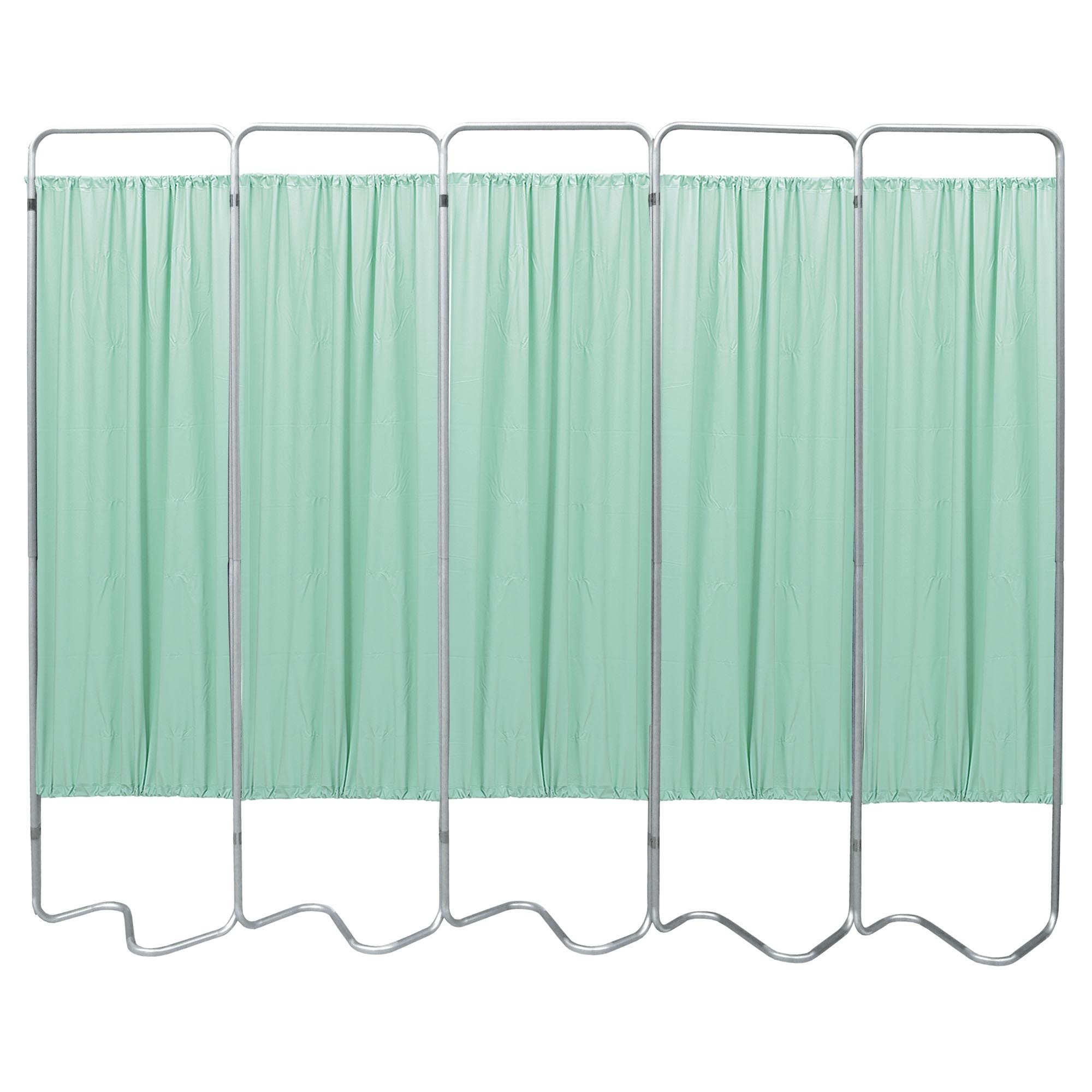 Beamatic 5 Section Folding Privacy Screen - Green Vinyl Screen Panel