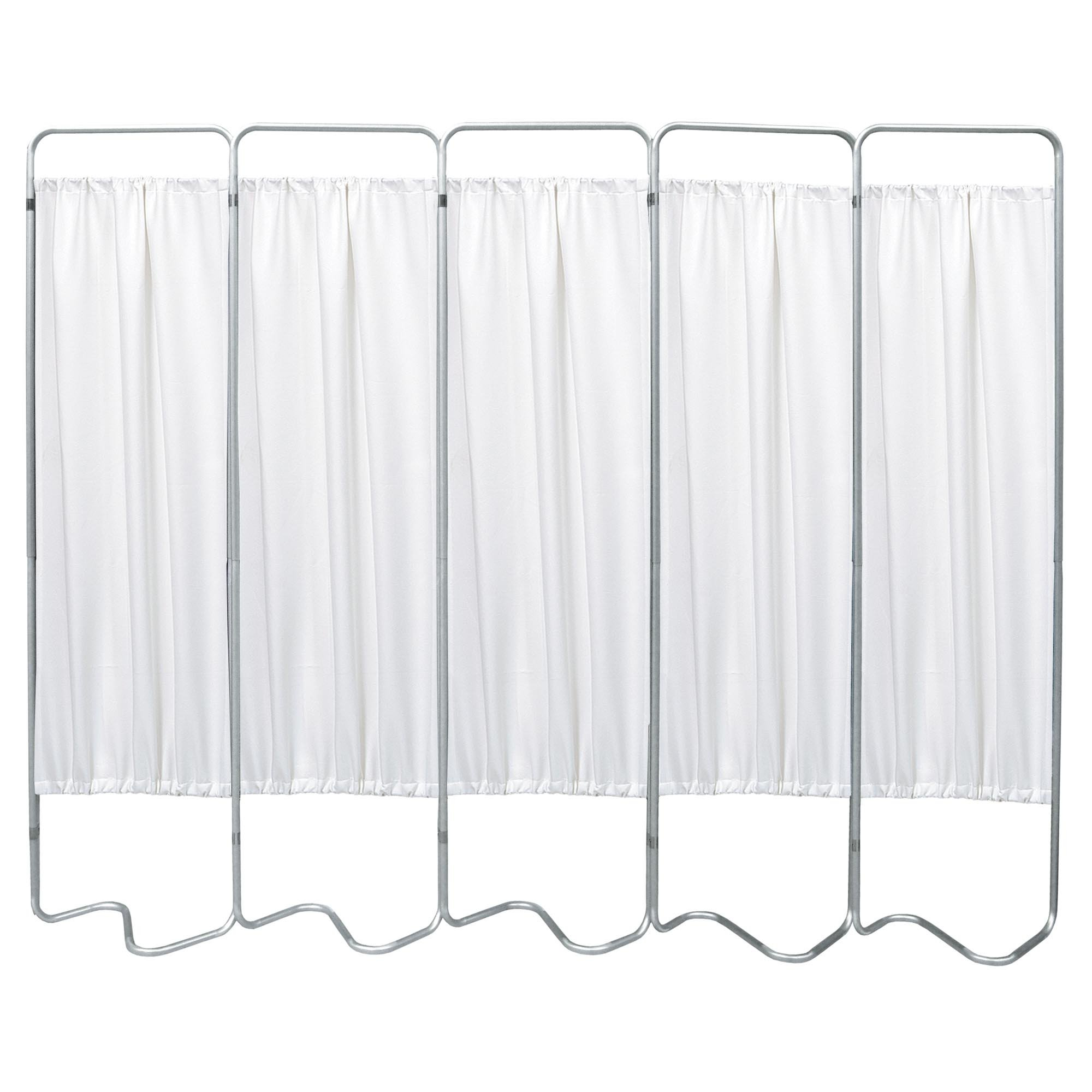 Beamatic 5 Section Folding Privacy Screen - White Vinyl Screen Panel
