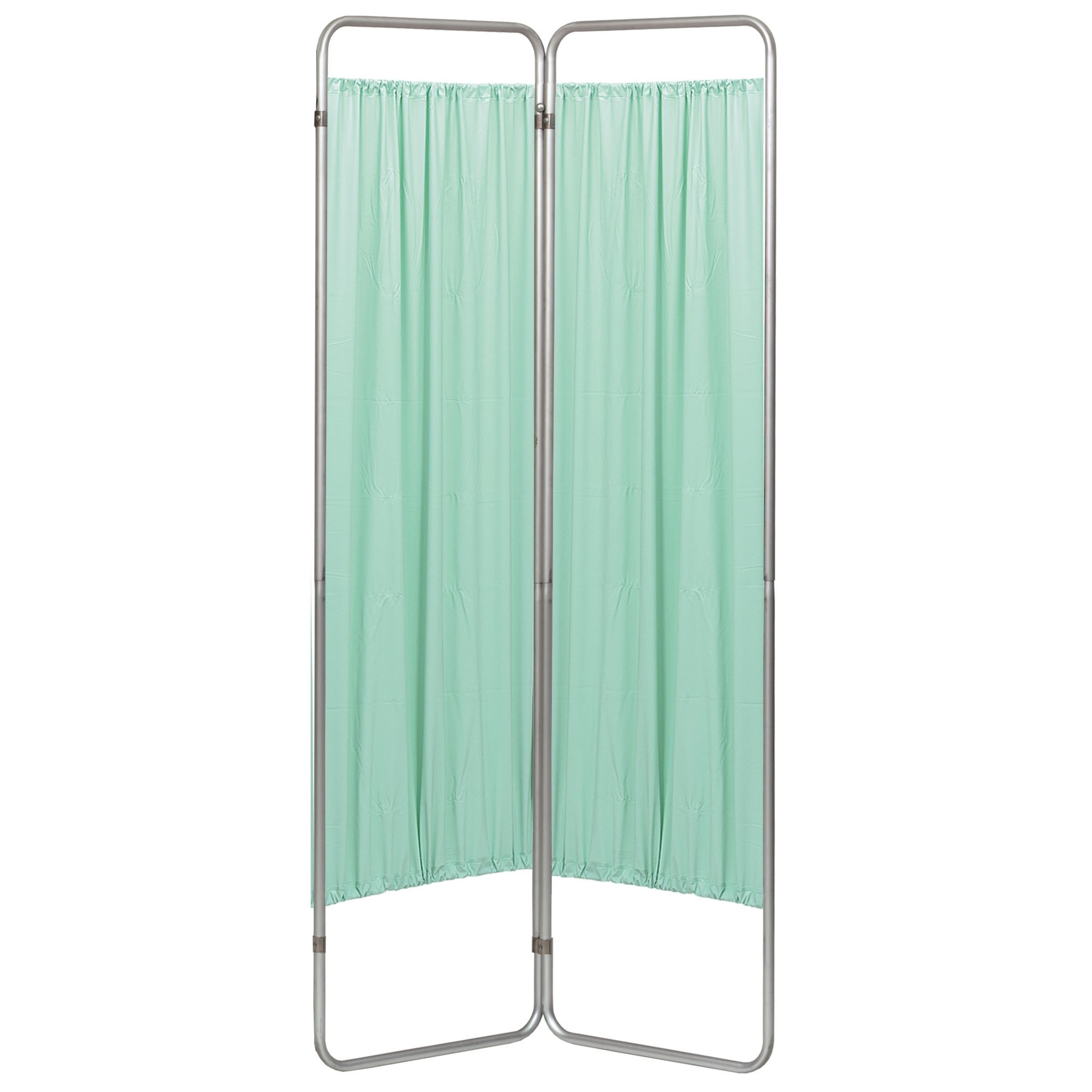Economy 2 Section Folding Privacy Screen - Green Vinyl Screen Panel