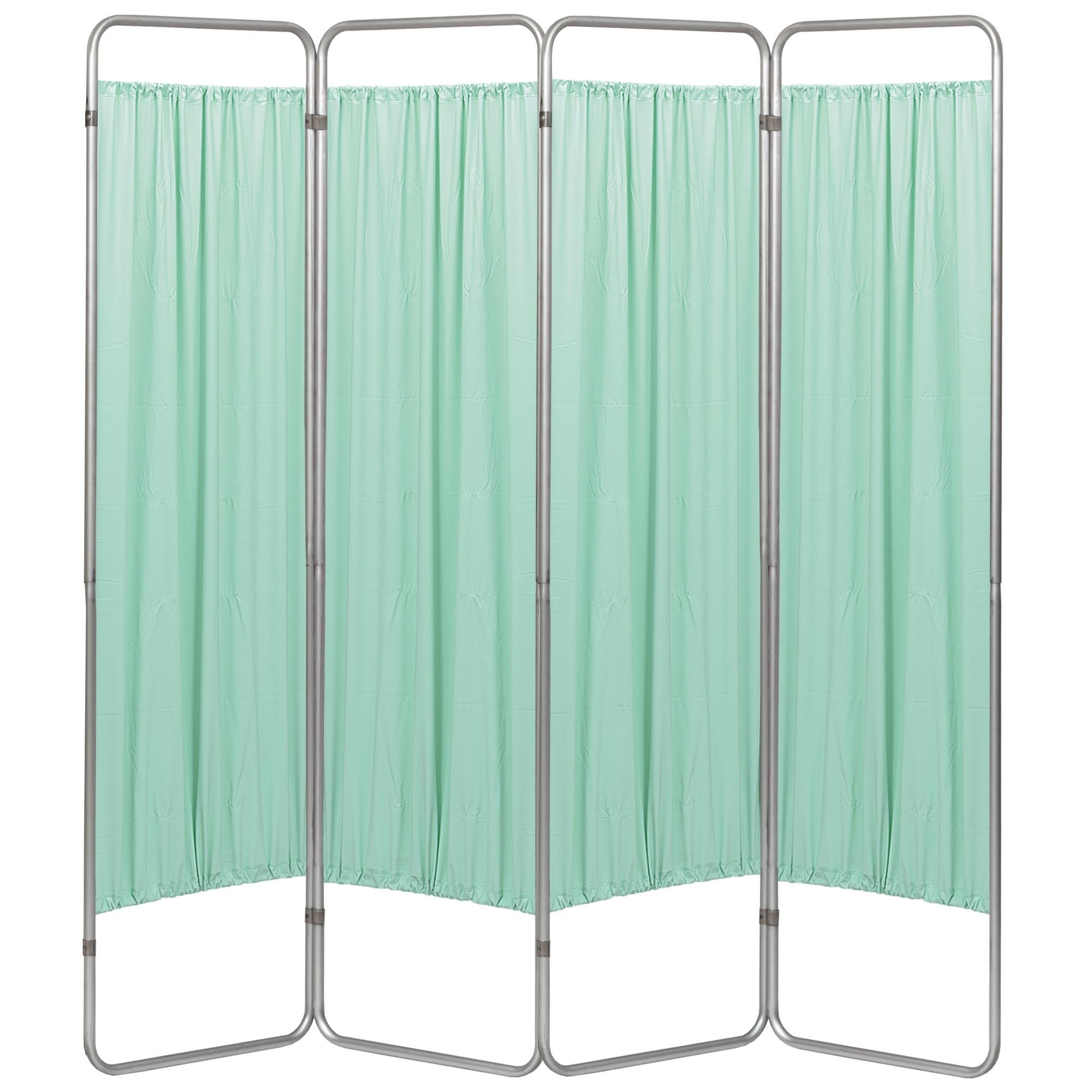 Economy 4 Section Folding Privacy Screen - Green Vinyl Screen Panel