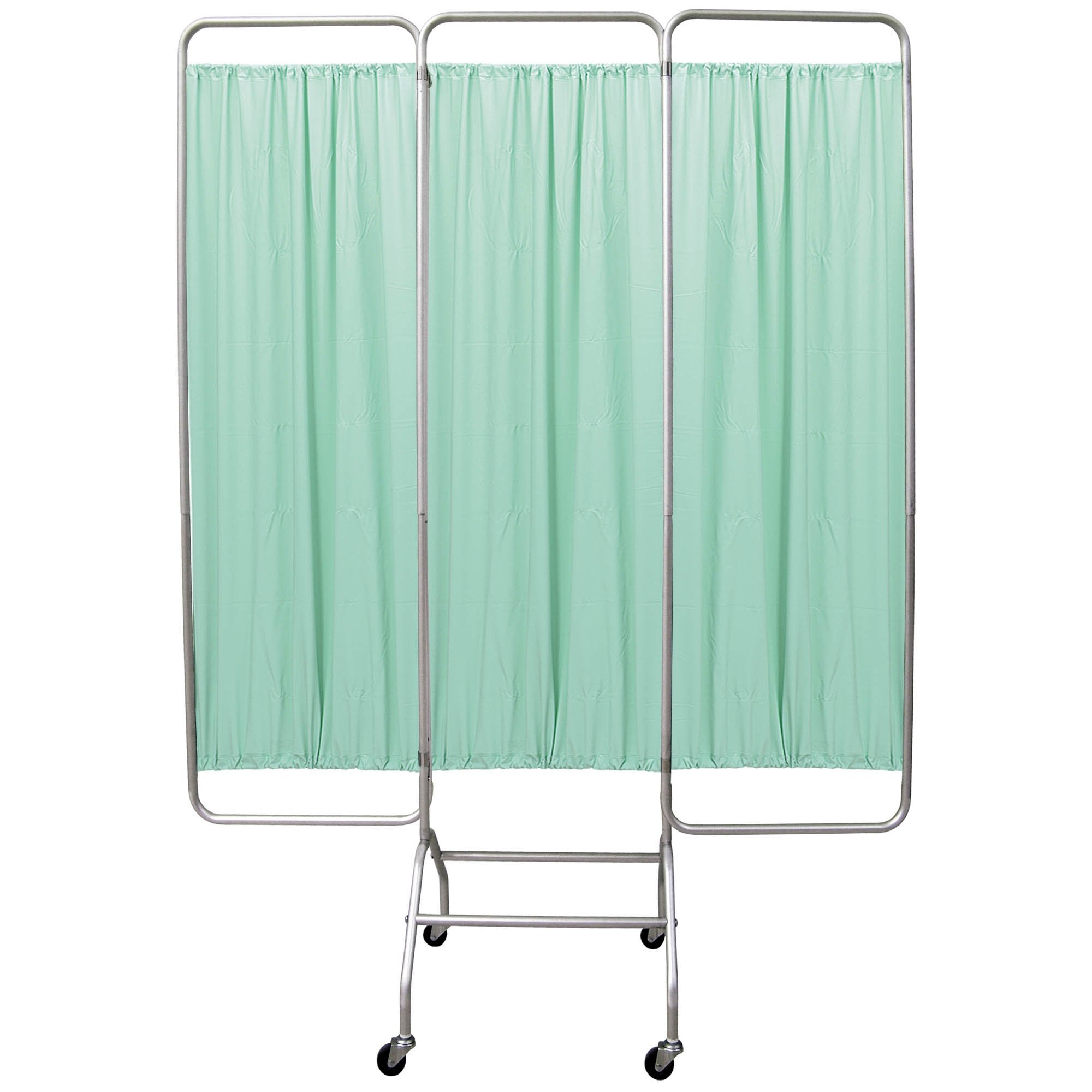 Mobile 3 Section Folding Privacy Screen - Green Vinyl Screen Panel