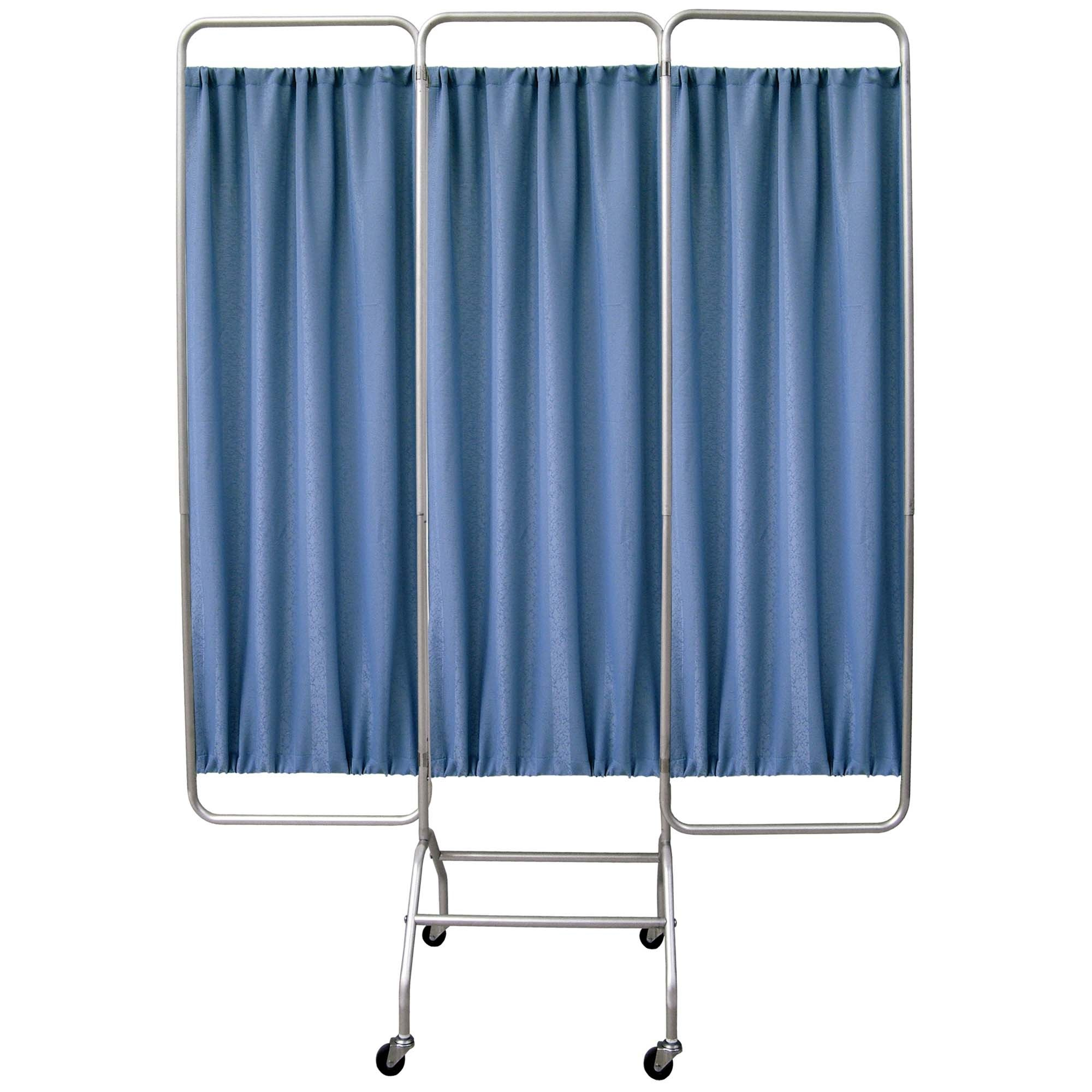 Mobile 3 Section Folding Privacy Screen - Norway Designer Cloth Screen Panel