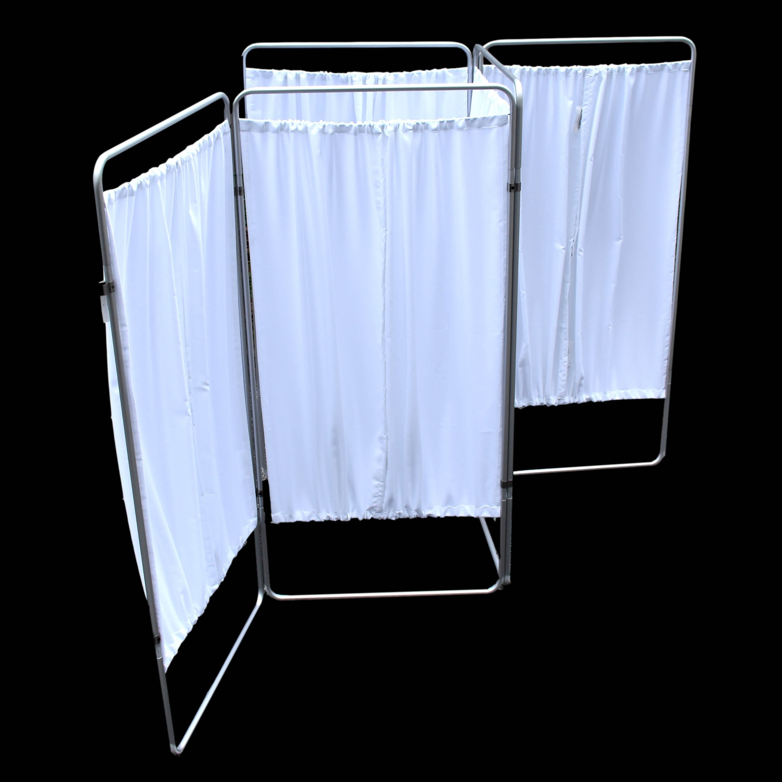 King Economy Privacy Screen with T-Hinge and White Vinyl Panel - 5 Section