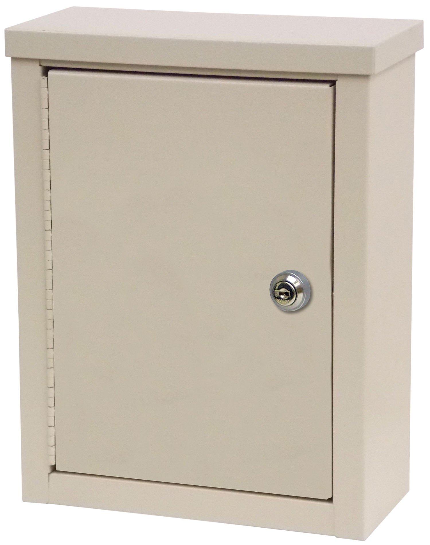 Mini Wall Storage Cabinet with Flat Key Lock - Beige