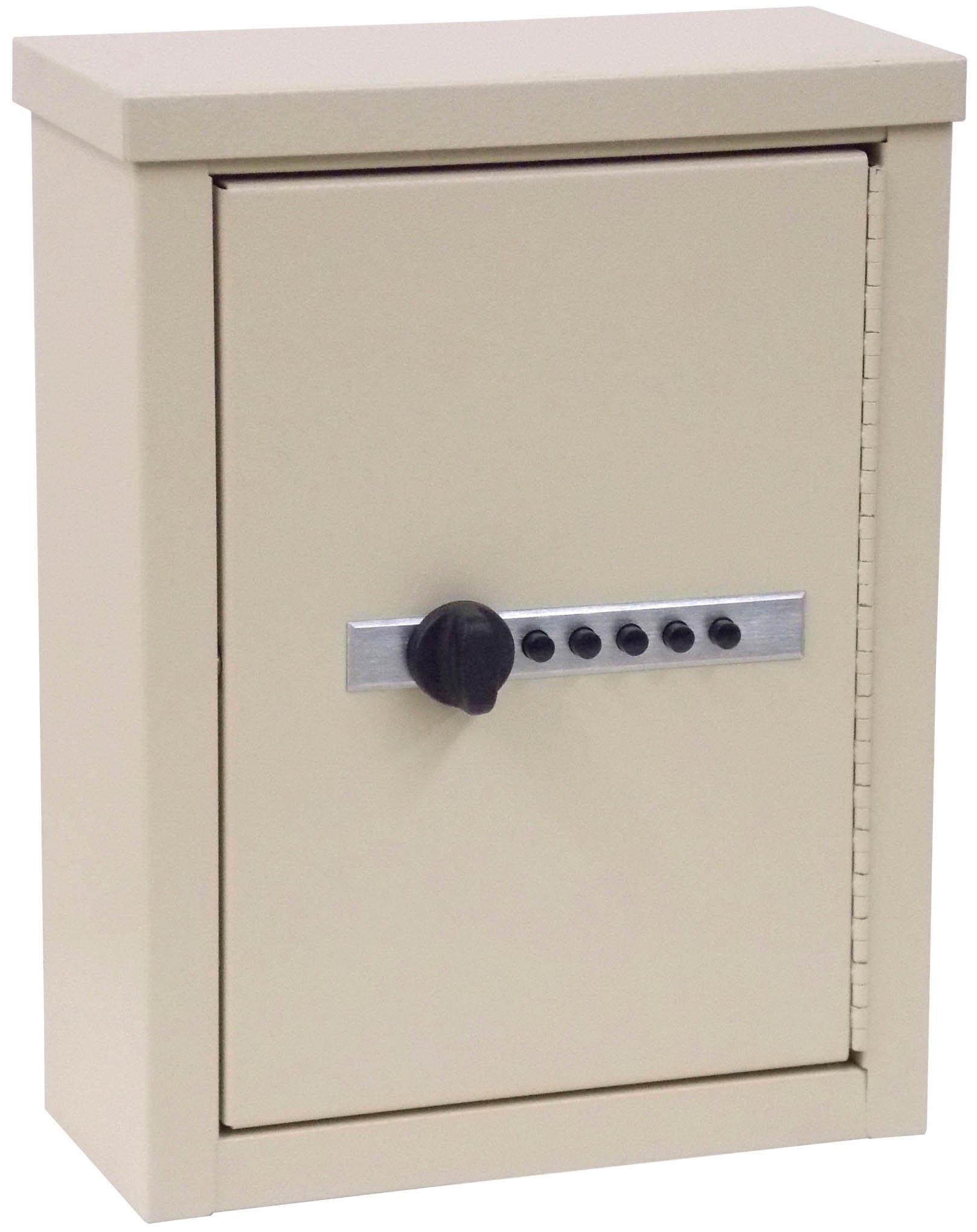 Mini Wall Storage Cabinet with Combination Lock - Beige