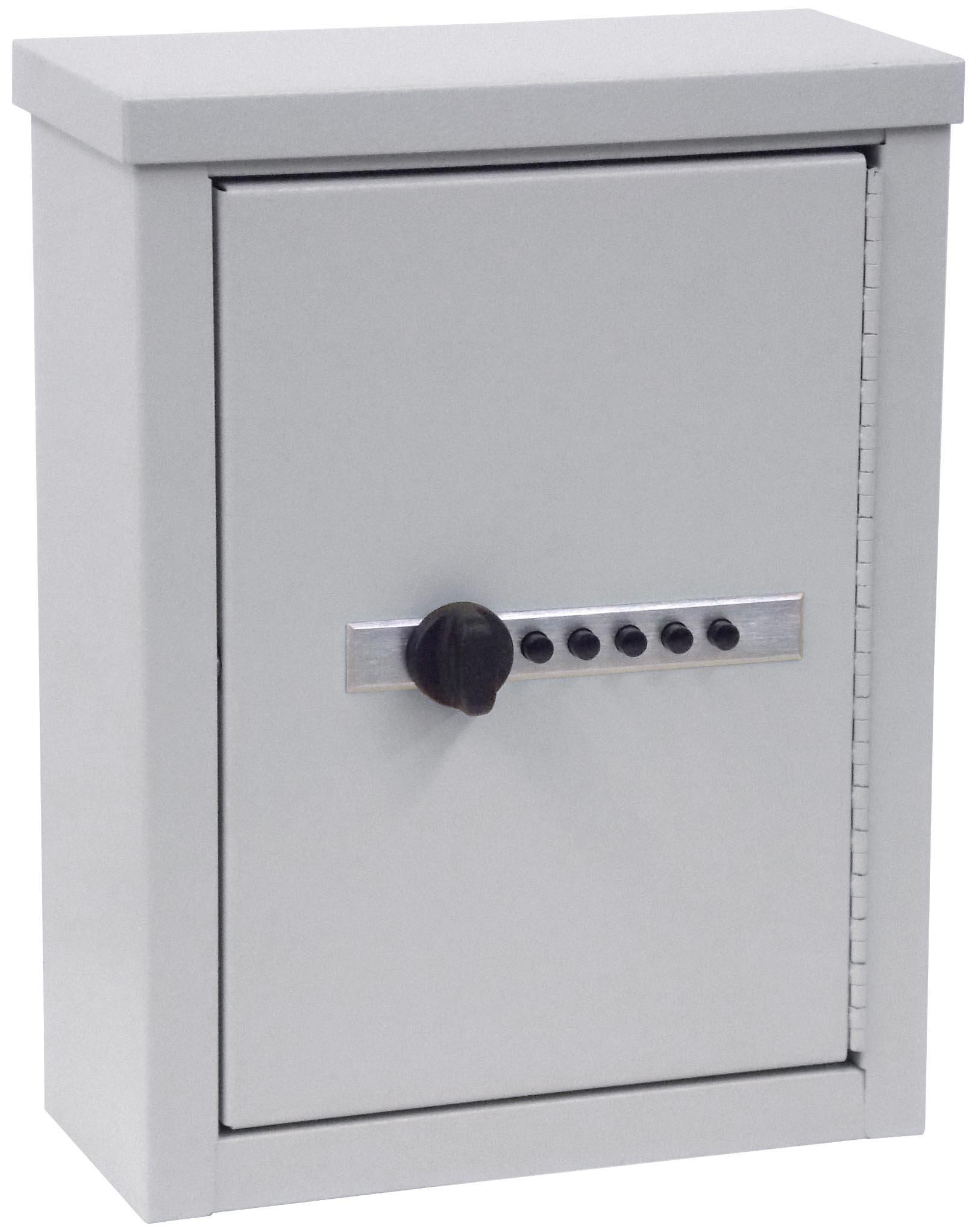 Mini Wall Storage Cabinet with Combination Lock - Light Grey