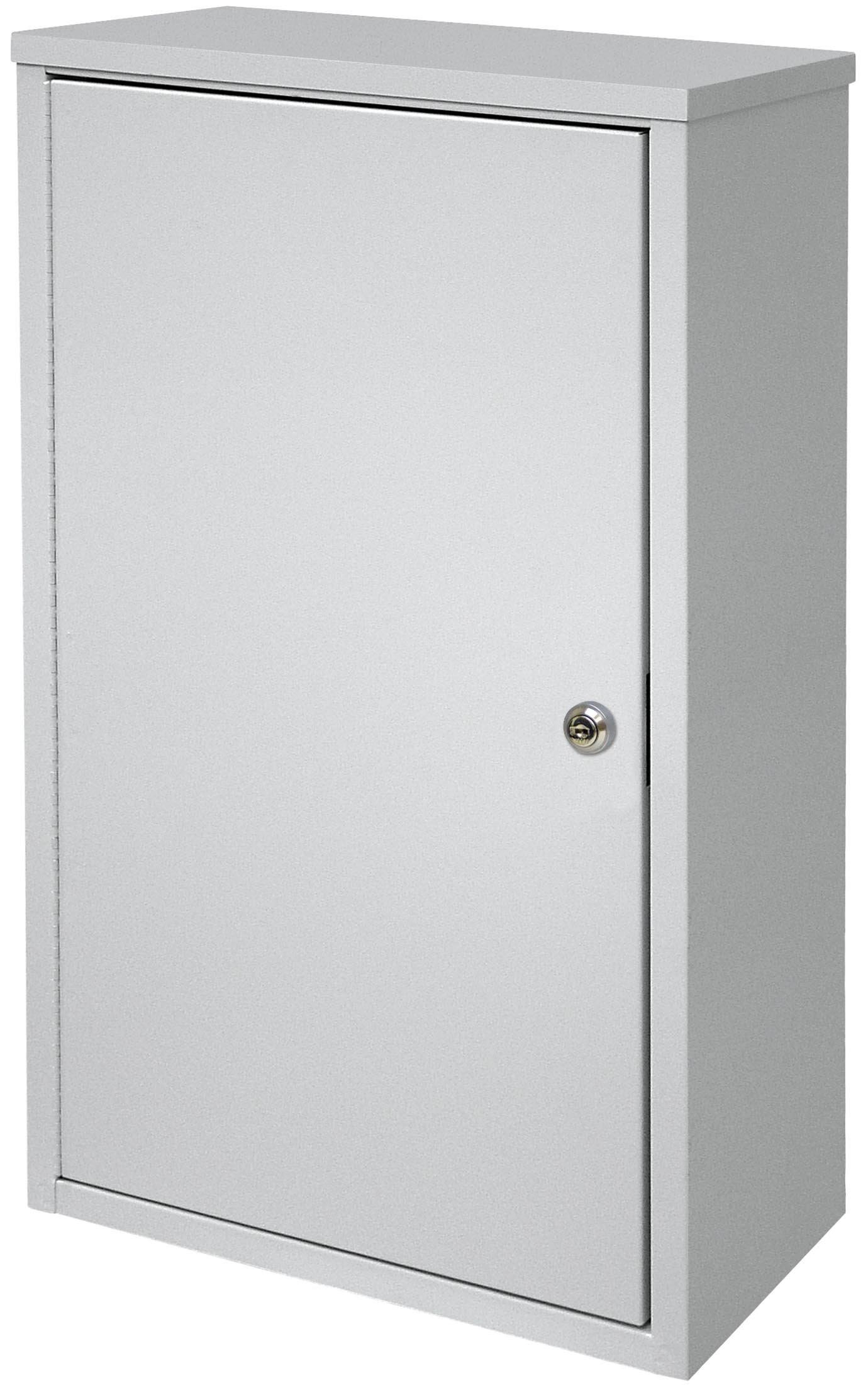 Large Wall Storage Cabinet - Light Grey