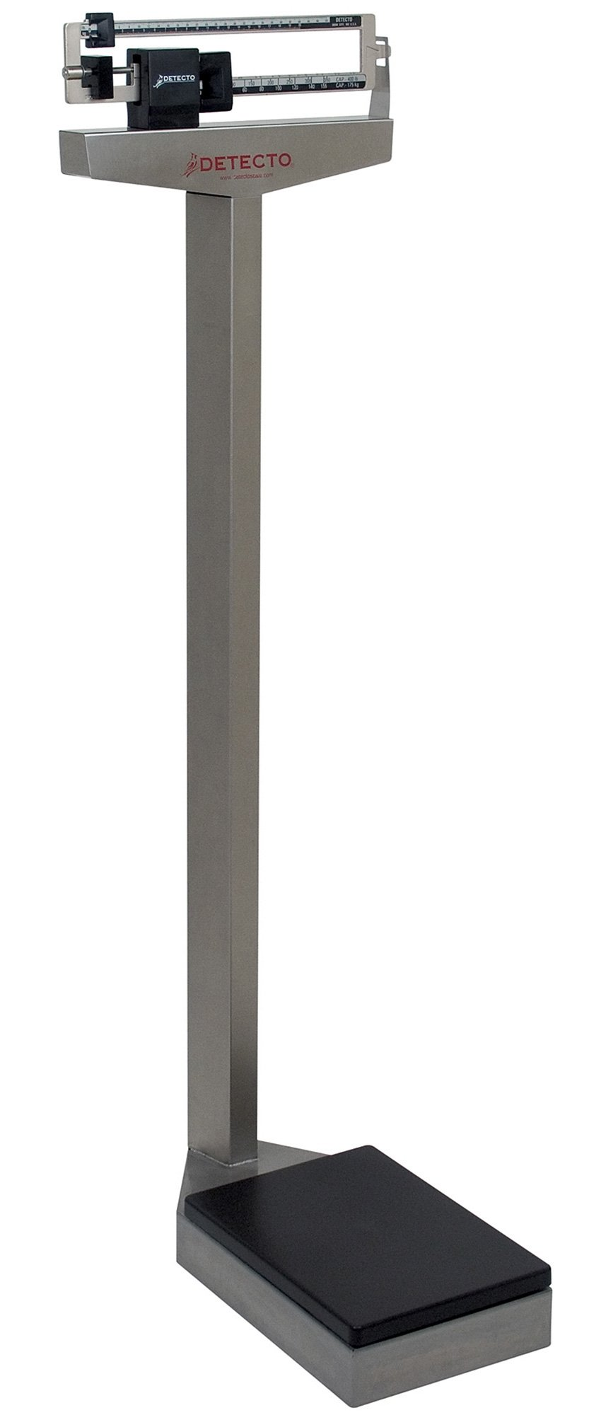Mechanical Eye-Level Scale - Stainless Steel - Lb & Kg Display - Capacity 400 lb/175 kg