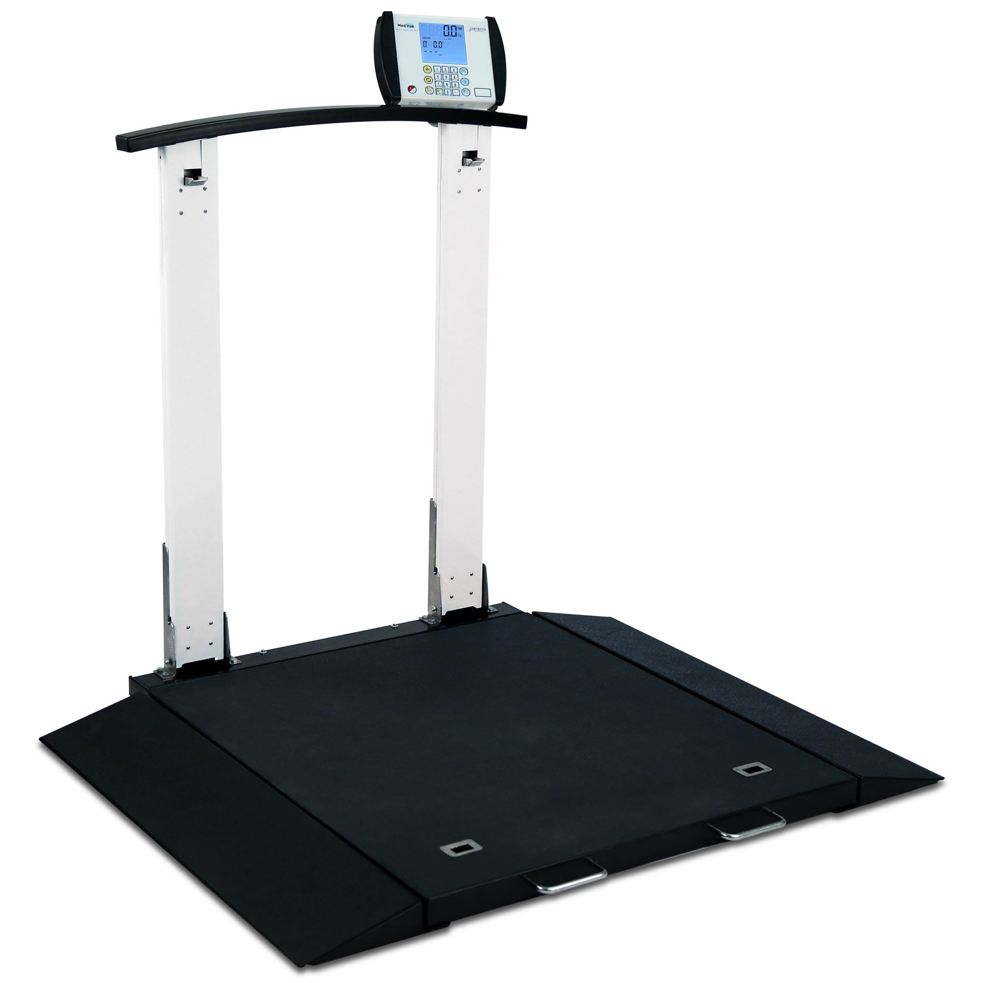 Folding Portable Digital Wheelchair Scale with Handrail