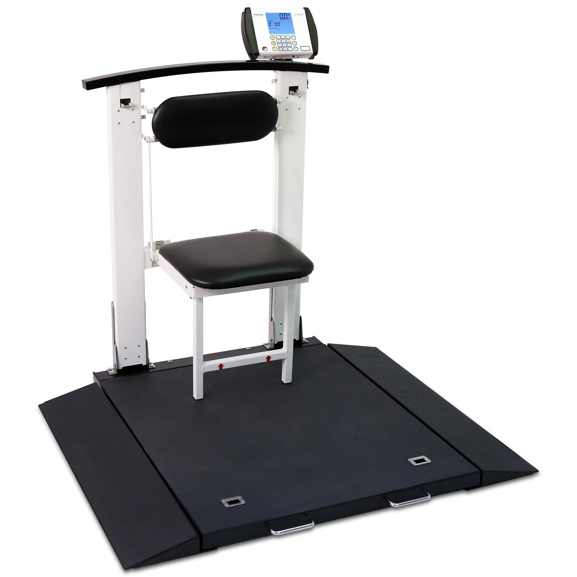 Folding Portable Digital Wheelchair Scale with Handrail & Seat