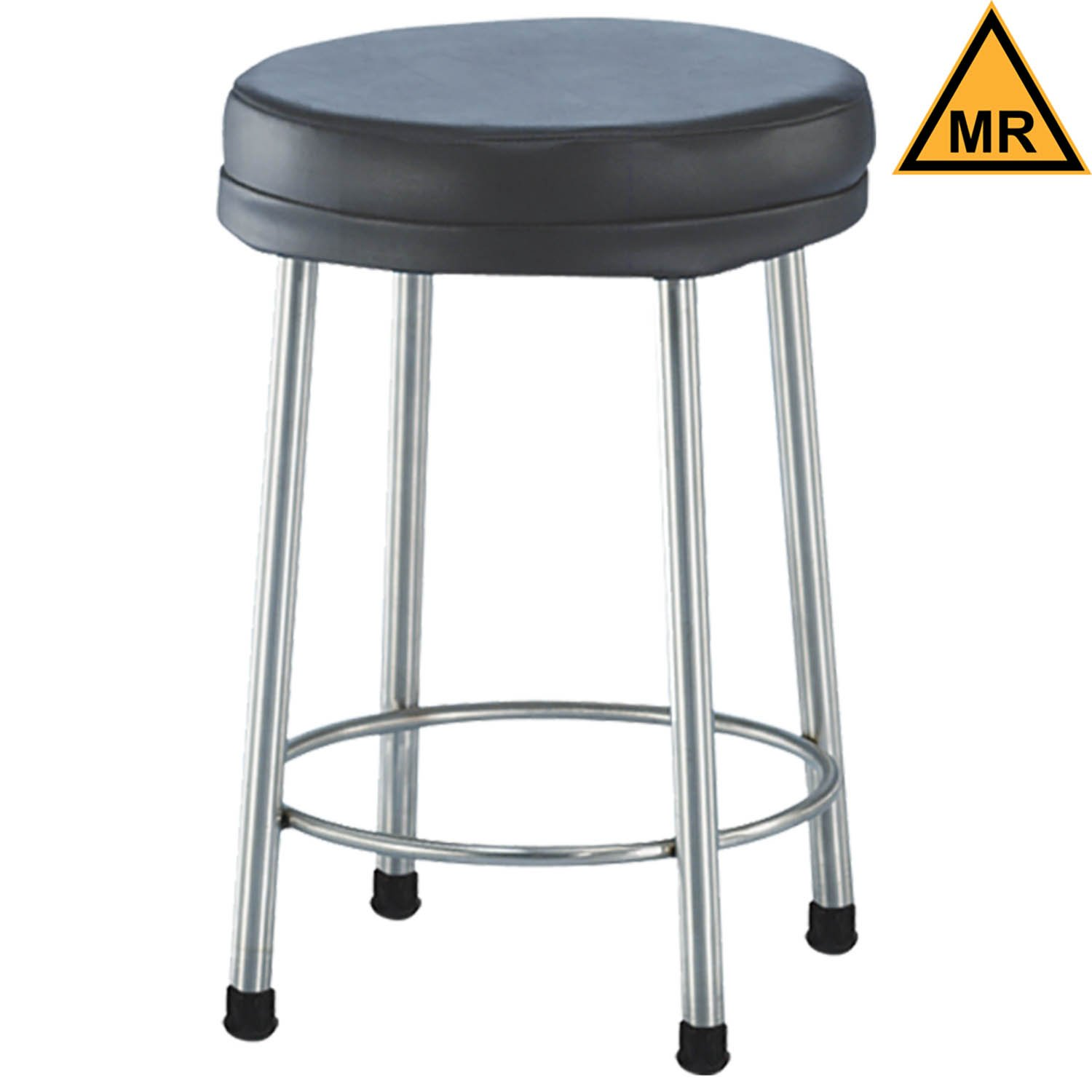 Non-Magnetic Padded Stool with Rubber Tips - 21