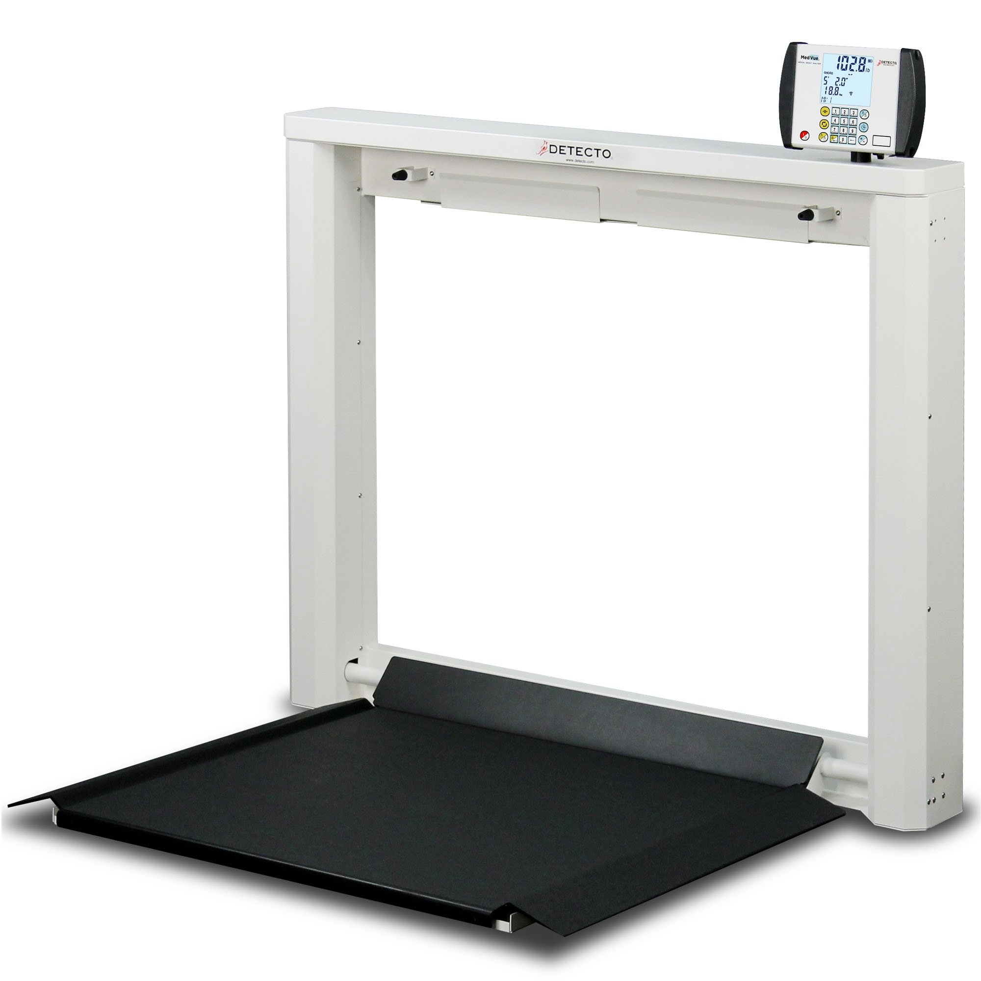 Wall Mount Fold-Down Platform Digital Wheelchair Scale
