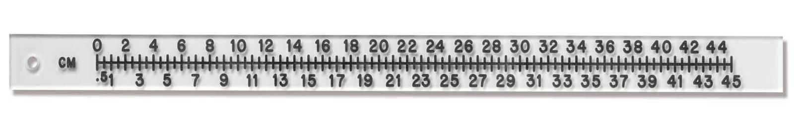 Rigid Acrylic Radiopaque Extremity Ruler - 45cm