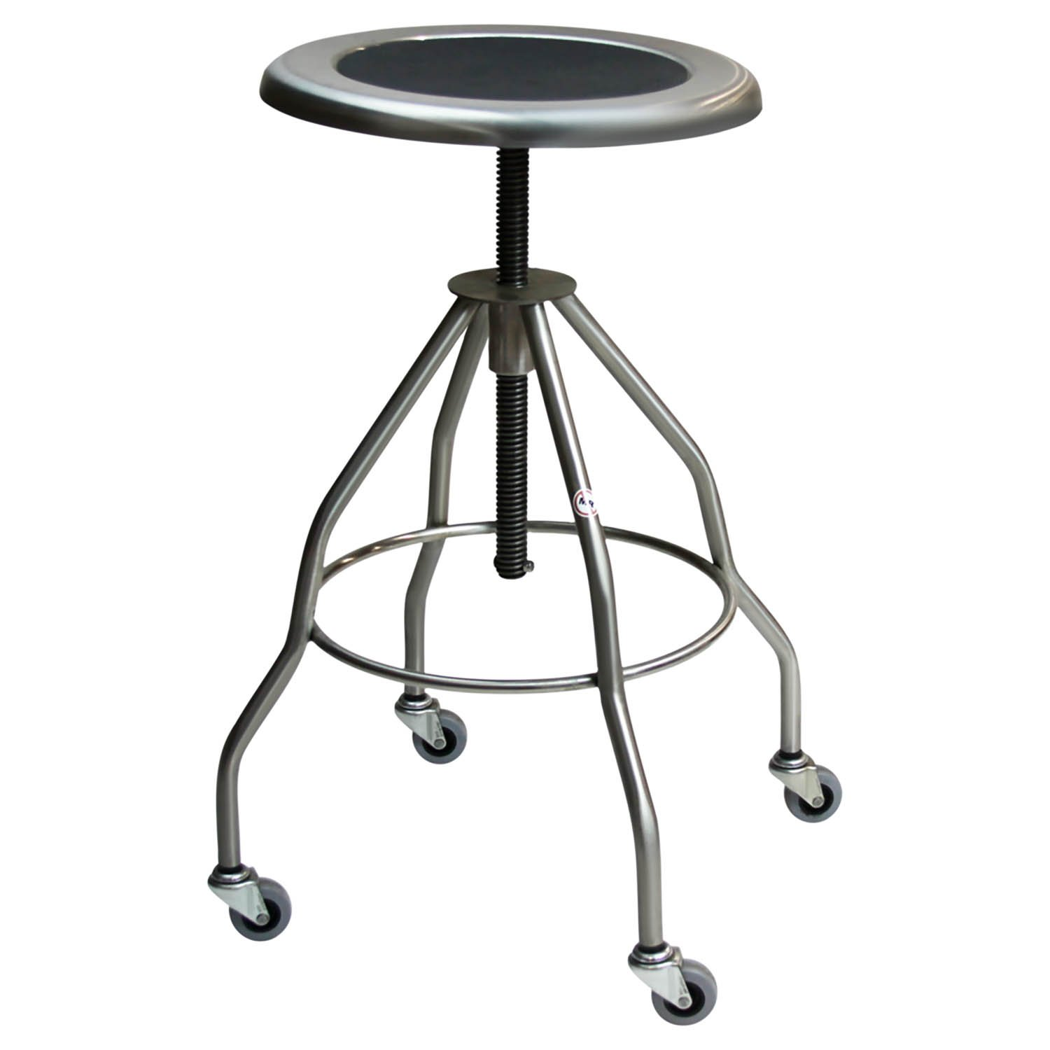 Stainless Steel Stool Recessed Seat with 2