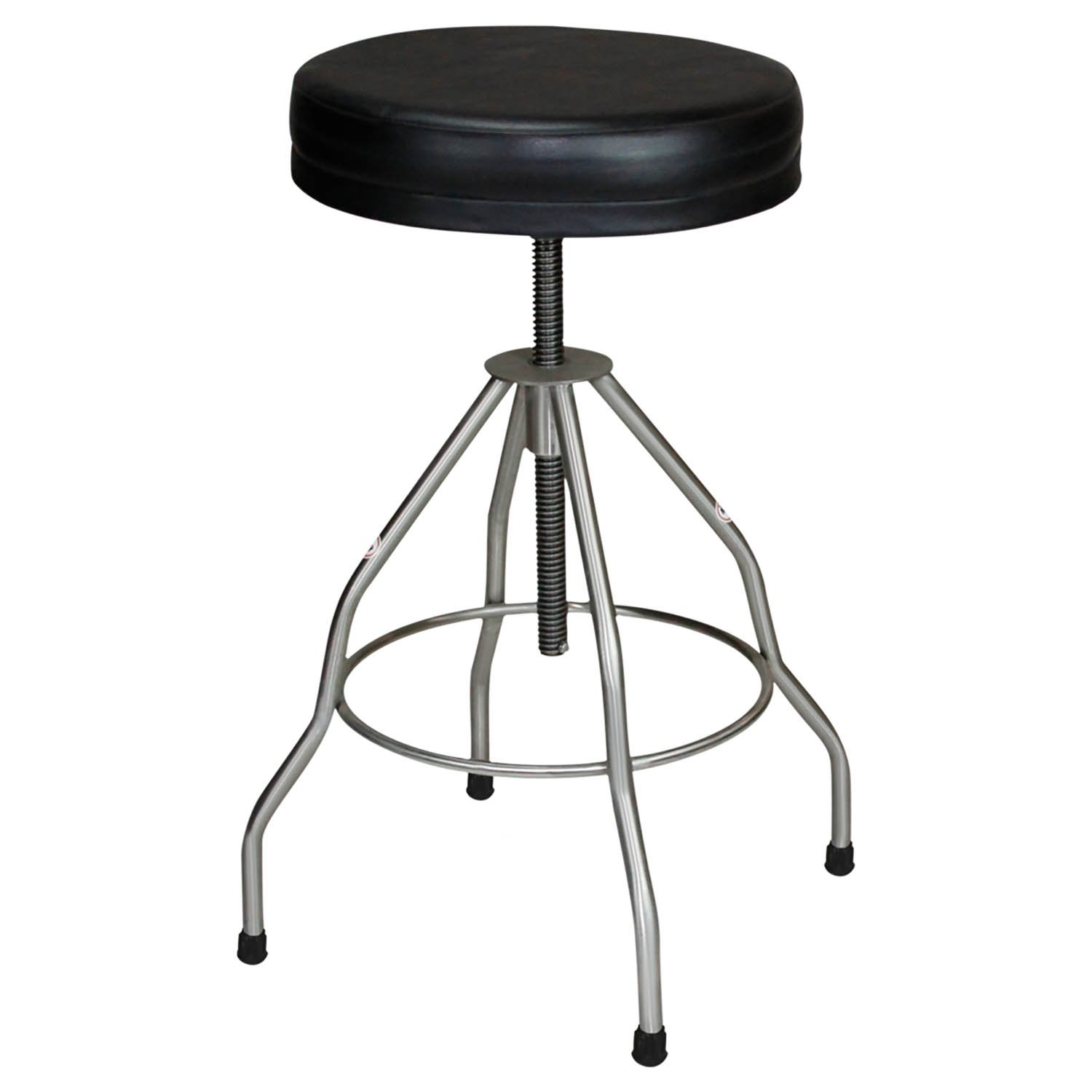 Stainless Steel Stool Recessed Seat with Pad & Rubber Tips