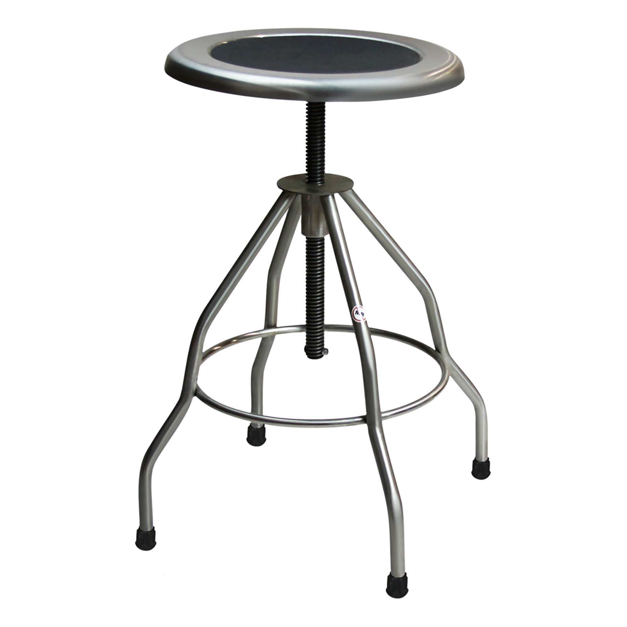Stainless Steel Stool Recessed Seat with Rubber Tips