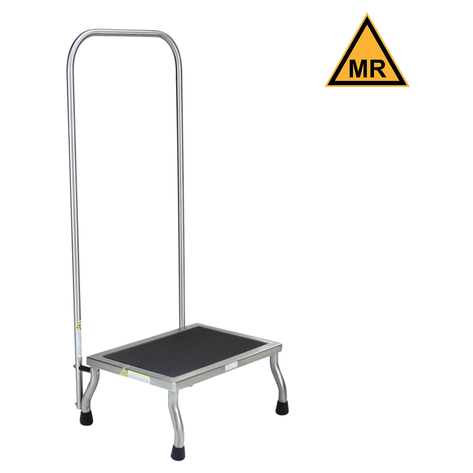 Non-Magnetic Foot Stool with Handrail - 12