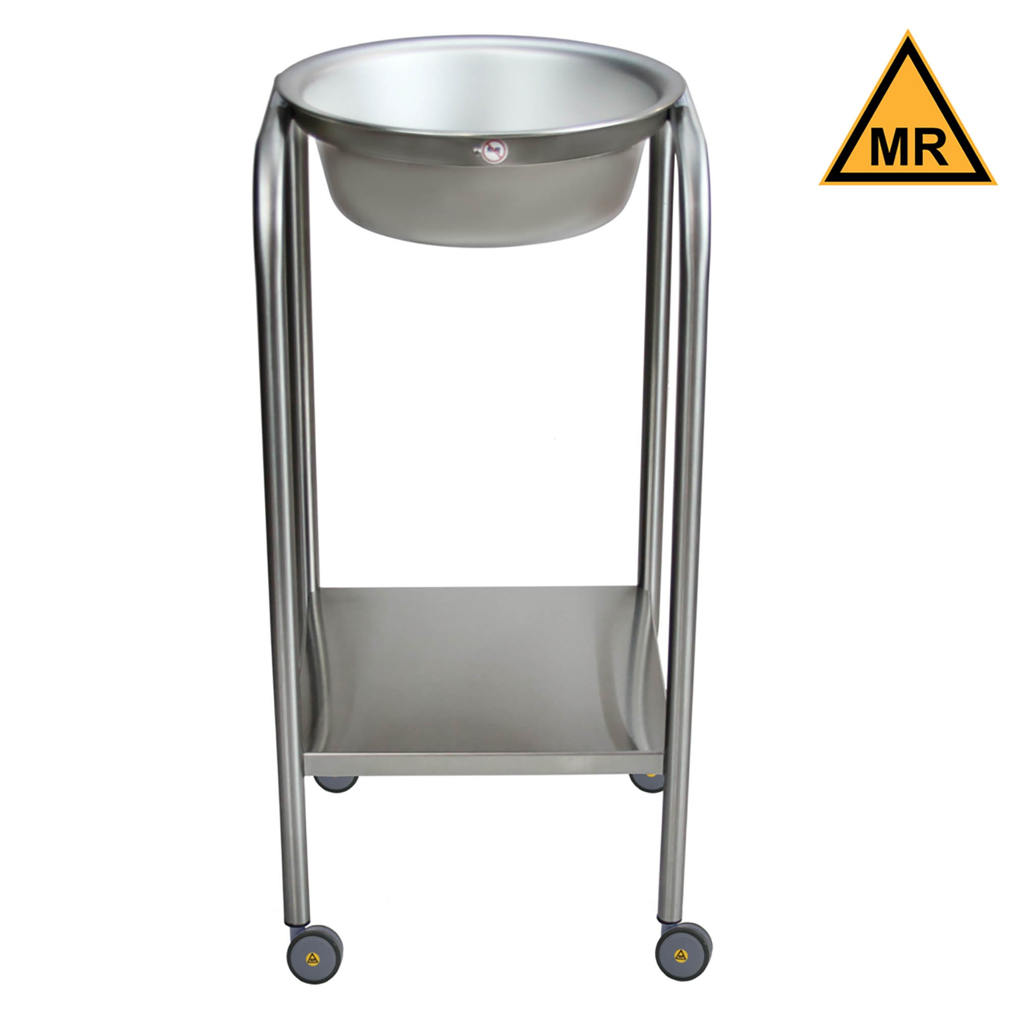 Non-Magnetic Single Basin Solution Stand with Shelf