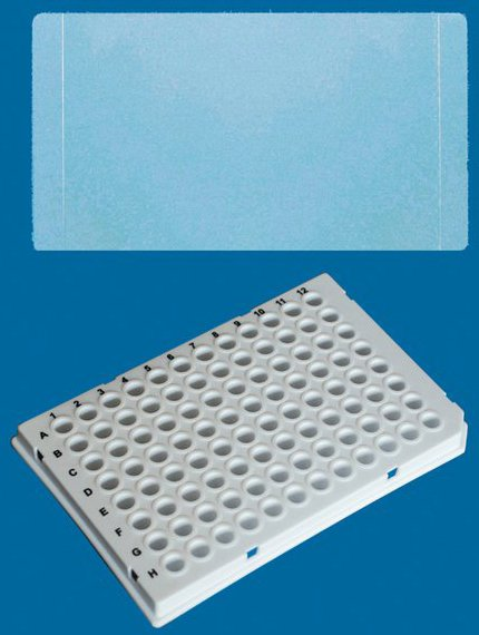 BRAND Polypropylene White 96-Well Real-Time PCR (qPCR) Plates - Well Volume 0.15mL - Low Profile - With Sealing Films