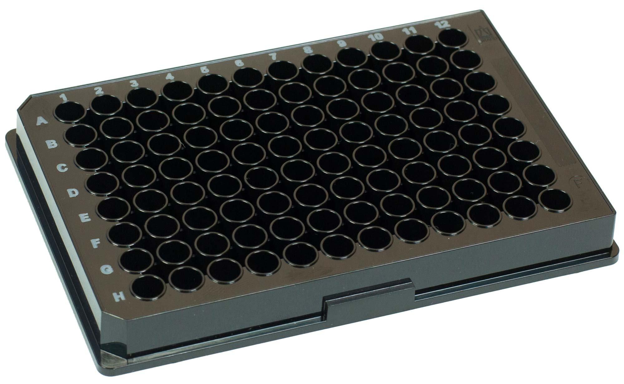 BRANDplates pureGrade PS Non-Treated Non-Sterile Surface 96-Well Plate - Black, F-Bottom