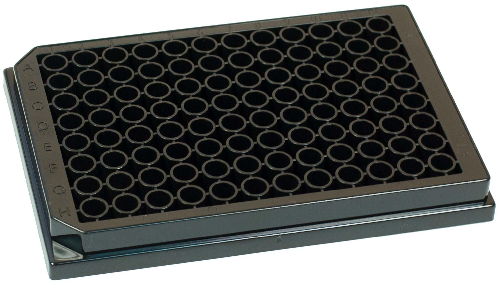 BRANDplates pureGrade PS Non-Treated Non-Sterile Surface 96-Well Plate - Black, Transparent F-Bottom