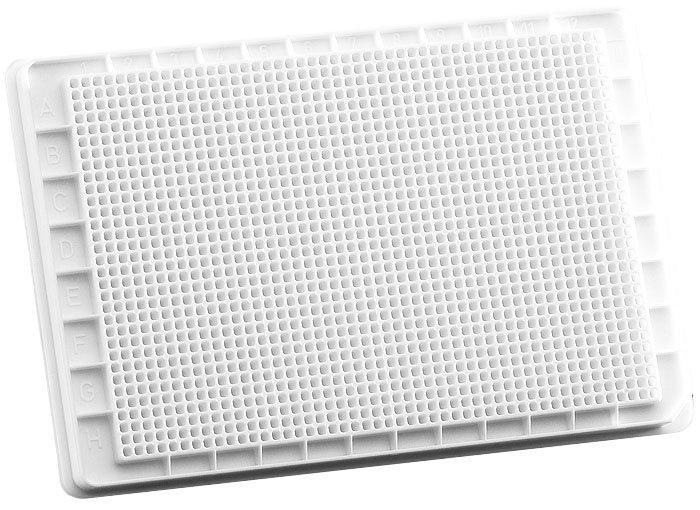 BRANDplates pureGrade Non-Treated Non-Sterile Surface 1536-Well Plate - White, F-Bottom