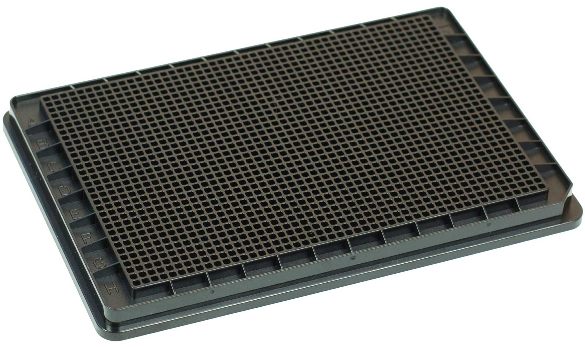 BRANDplates pureGrade Non-Treated Non-Sterile Surface 1536-Well Plate - Black, F-Bottom