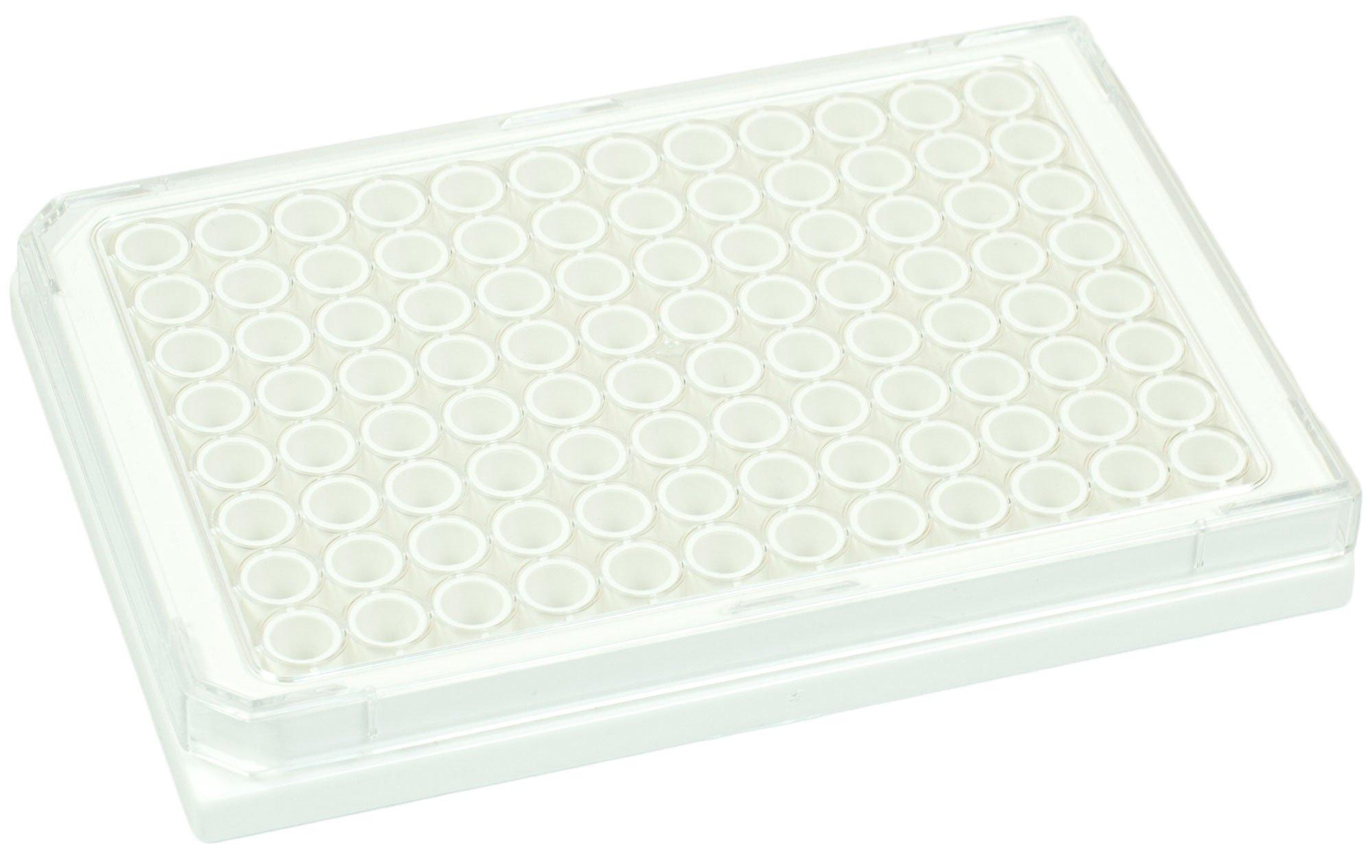 BRANDplates pureGrade S Non-Treated Sterile Surface 96-Well Plate - White, Transparent F-Bottom