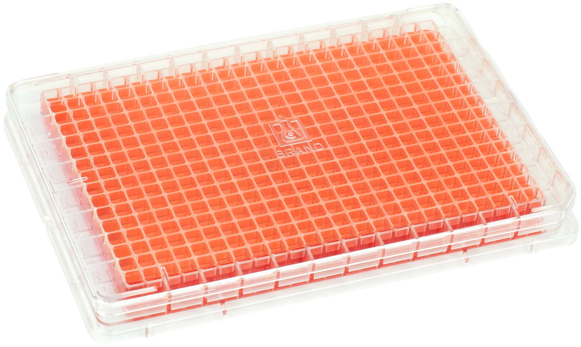 BRANDplates pureGrade S Non-Treated Sterile Surface 384-Well Plate - Transparent, F-Bottom