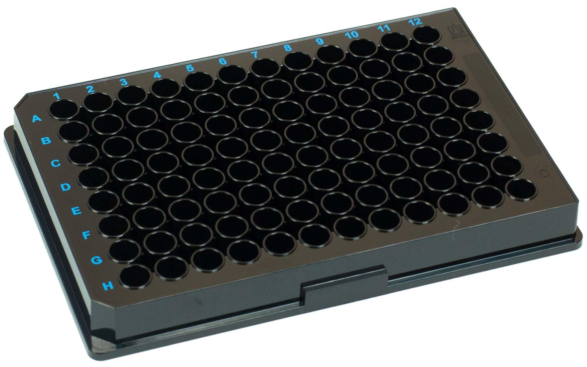 BRANDplates immunoGrade Non-Sterile Treated Surface 96-Well Plate - Black, C-Bottom