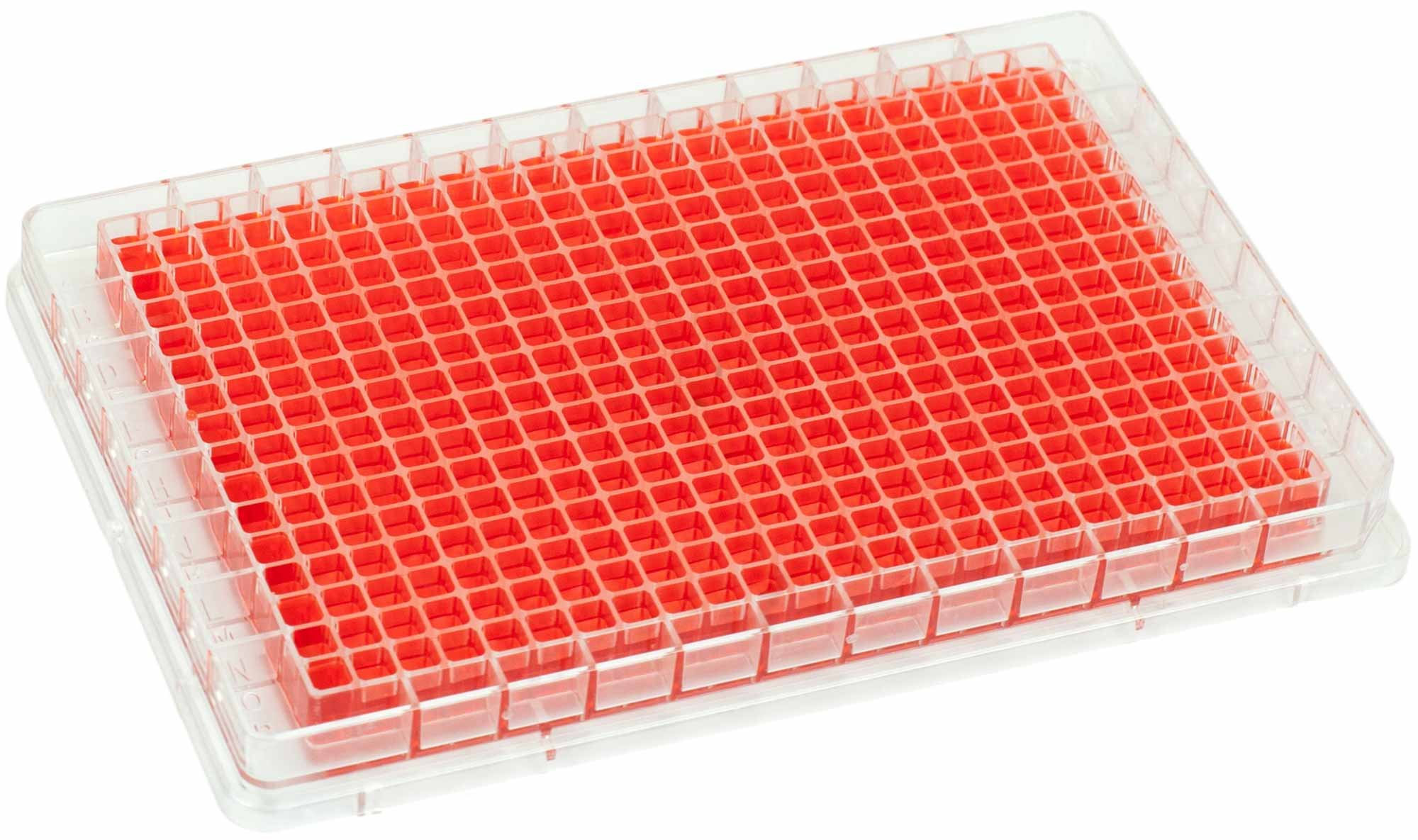 BRANDplates immunoGrade Non-Sterile Treated Surface 384-Well Plate - Transparent, F-Bottom