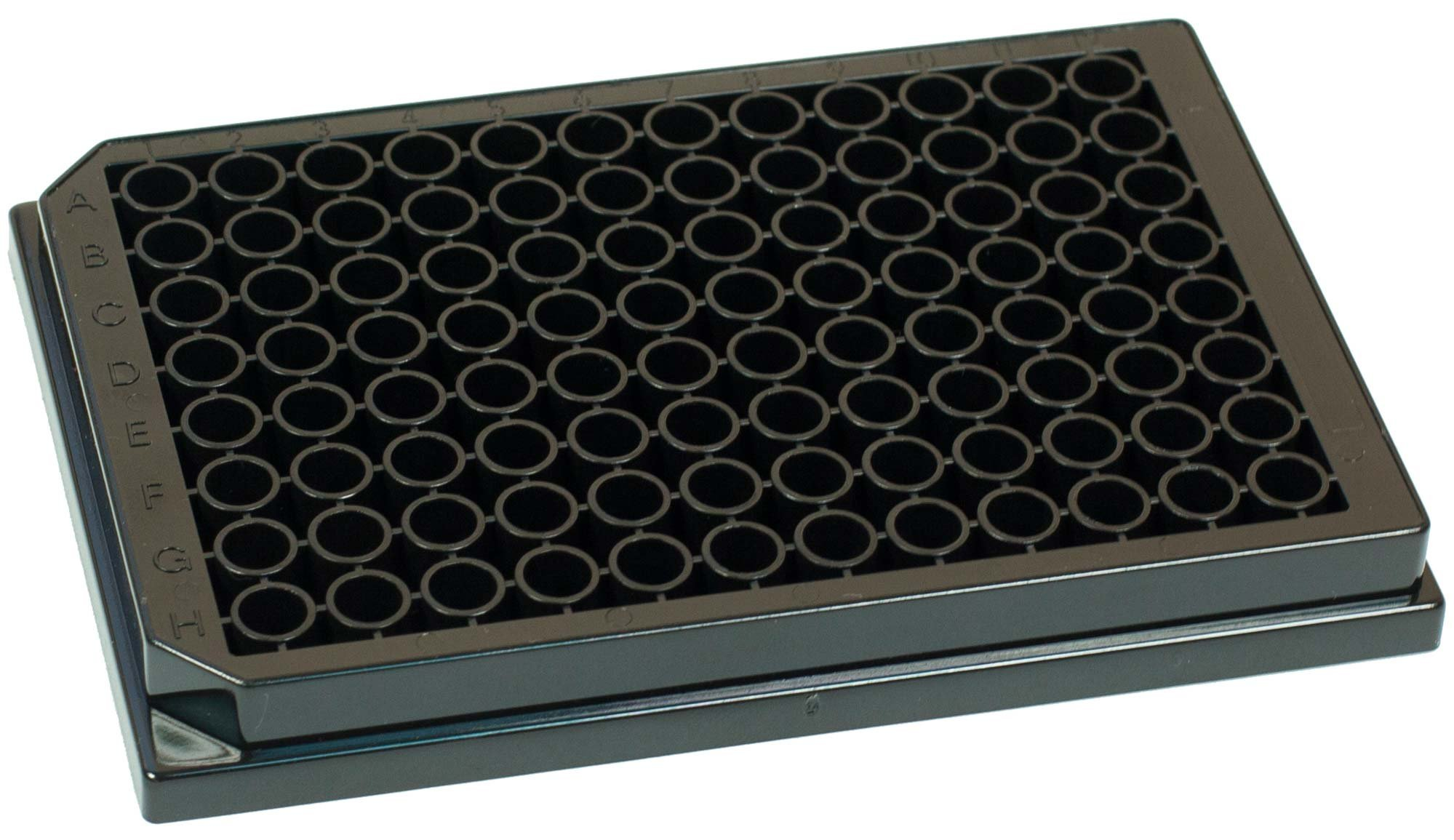 BRANDplates lipoGrade Non-Sterile Treated Surface 96-Well Plate - Black, Transparent F-Bottom