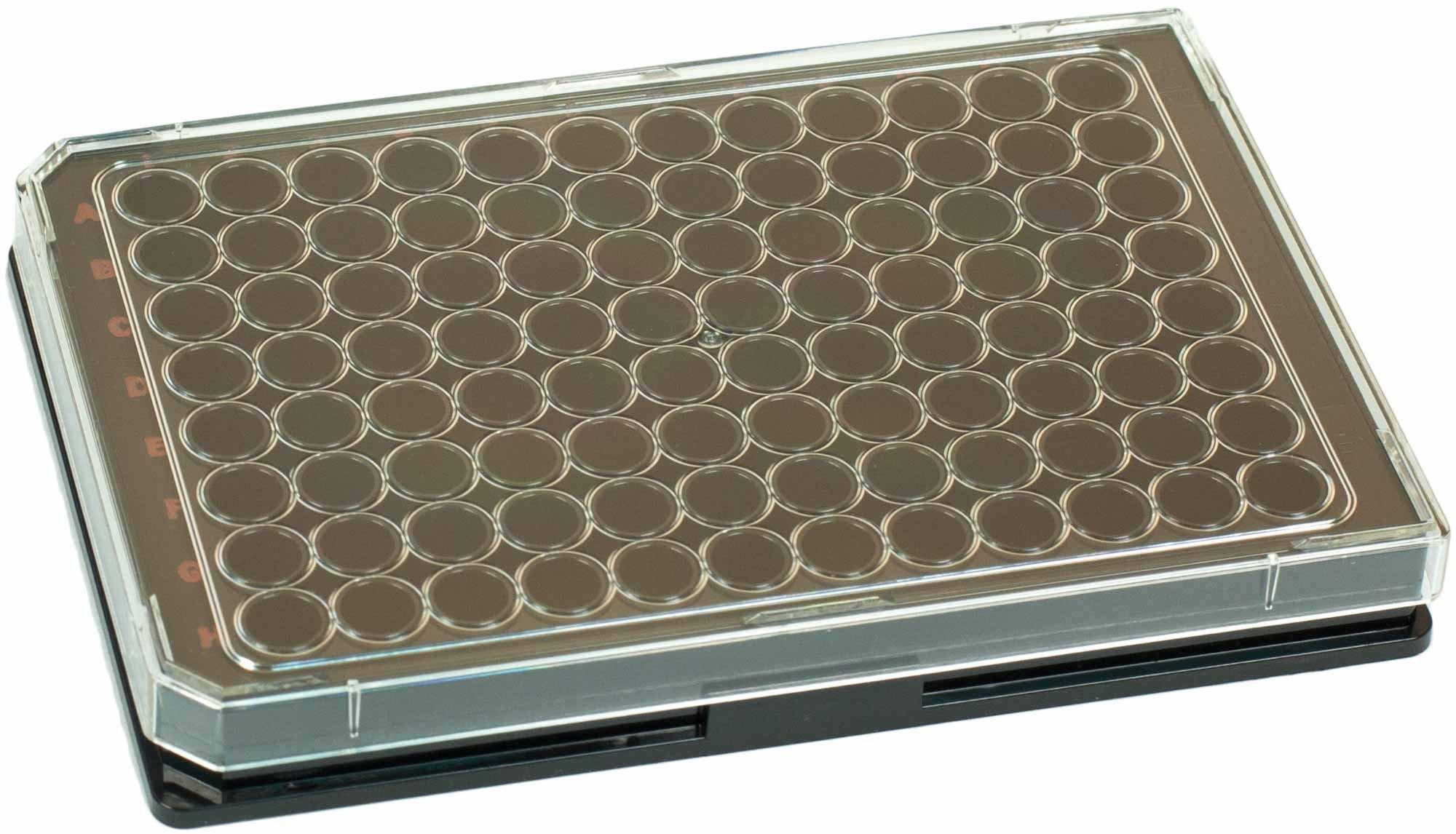 BRANDplates cellGrade Treated Sterile Surface 96-Well Plate - Black, F-Bottom