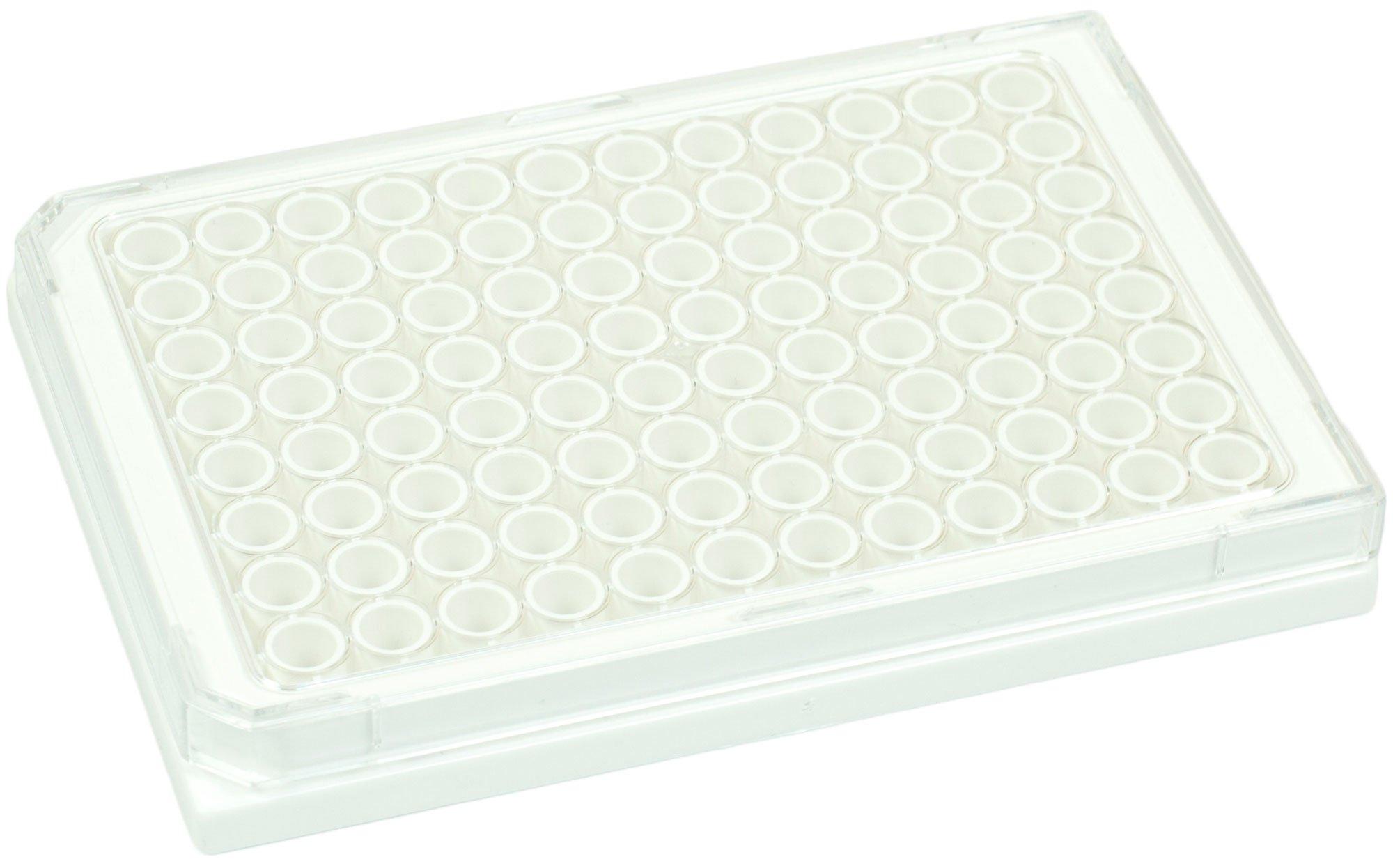 BRANDplates cellGrade Treated Sterile Surface 96-Well Plate - White, Transparent F-Bottom
