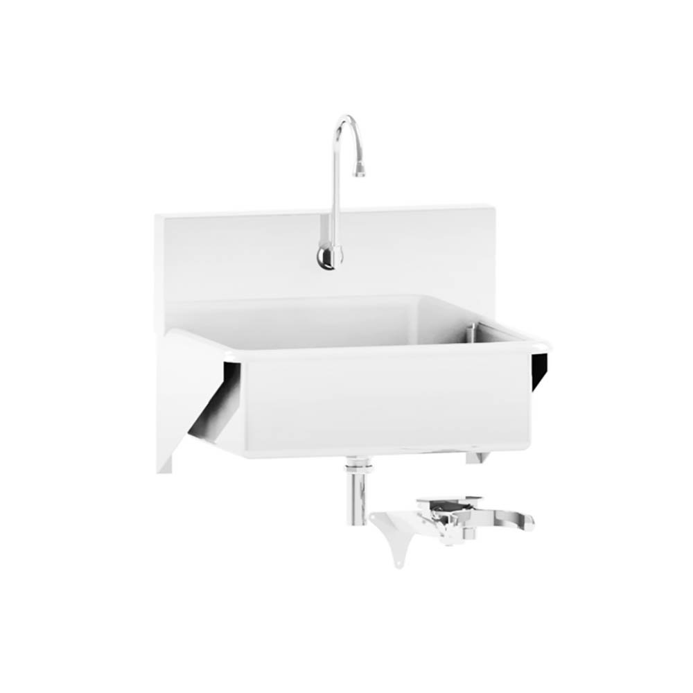 Windsor Scrub Sink - Single-Place Knee-Action Control - 25